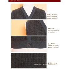 Pull Yak en laine / cachemire à col V pour homme / Vêtements / Vêtements / Tricots