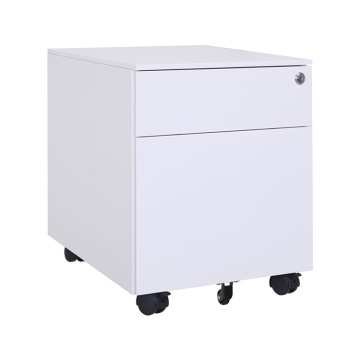 White Metal Office Storage File Cabinet