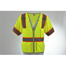 Hi Vis ANSI Class 3 Reflective Safety Lime Vest