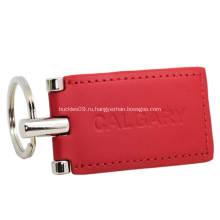 Оптовая дешевые моды кожаный keychain для промотирования