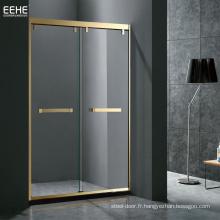 cabine de douche coulissante en verre