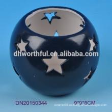 Lindo diseño de estrellas de cerámica tealight titular