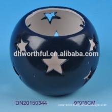 Cutely star design ceramic tealight holder