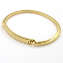 Рождественский подарок Золотой браслет из нержавеющей стали Модные ювелирные изделия