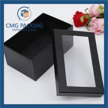 Boîte de papier de Keychain avec la fenêtre claire de PVC (CMG-AUG-017)