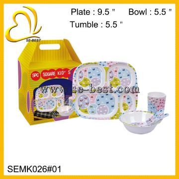 дети меламин посуда;меламин ребенок столовый набор