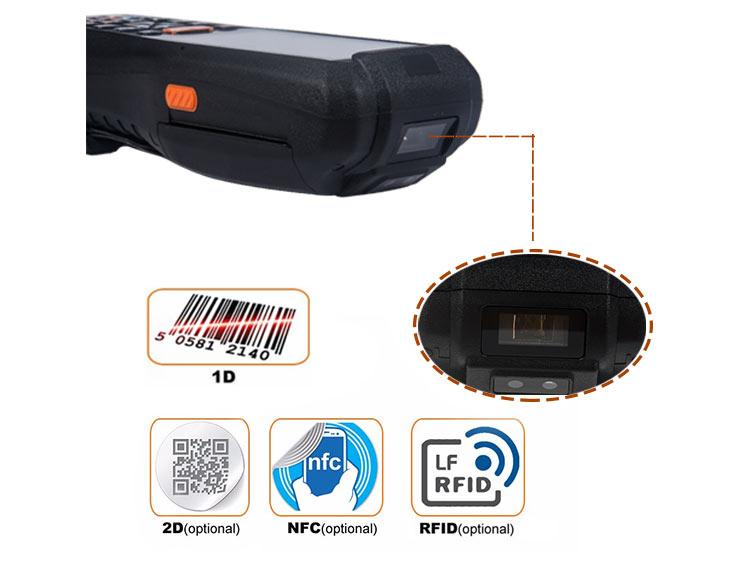 1D 2D barcode scanner PDA