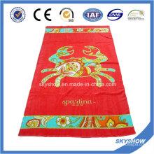 Пляжное полотенце с красным принтом (SST1051)