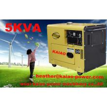 Geradores diesel portáteis silenciosos do baixo ruído / gerador diesel super silencioso de 5kw