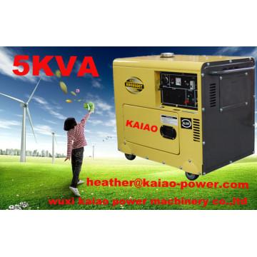 Générateurs diesel silencieux de bruit bas / super silencieux 5kw