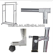 Barras paralelas de aluminio de secado de rack para la venta de ropa Espacio de pie de ahorro de perchas de ropa