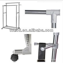 Alumínio Barras paralelas de secagem Rack para venda de roupas Stand Espaço de poupança de roupas cabides