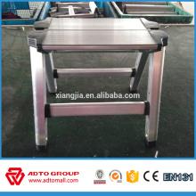 Porte-échelle en aluminium, 2 étape escabeau d'aluminium, échelle de selles