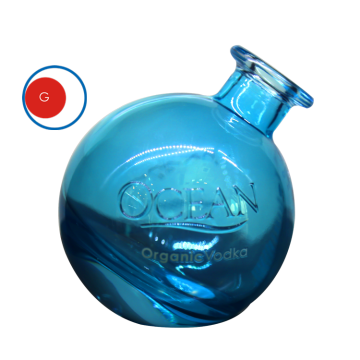 Bouteille de vodka Round Ocean Glass
