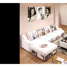 Conjunto de sofá de cuero moderno genuino de moda