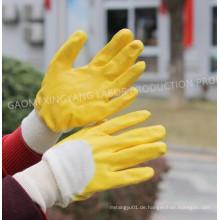 Cotton Interlock Shell Nitril 3/4 beschichtete Sicherheits-Arbeitshandschuhe (N6015)