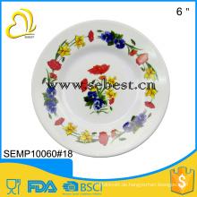 round print melamine plate