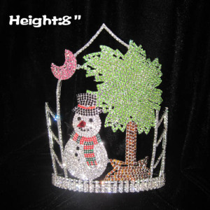 Rhinestone Snowman  Christmas In July Pageant Crowns