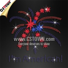 I'm American Crystal Applique Custom Transfers Rhinestone Design