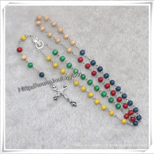 How to Pray The Rosary, Religious Wooden Beads Rosary (IO-cr326)