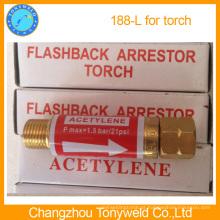 Apoio de flashback de acetileno 188L para tocha