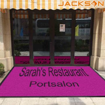 Mejor calidad impermeable alfombra al aire libre impreso personalizado con logotipo