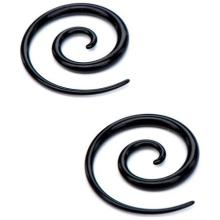 Elegant Acrylic UV Black Ear Taper Spiral