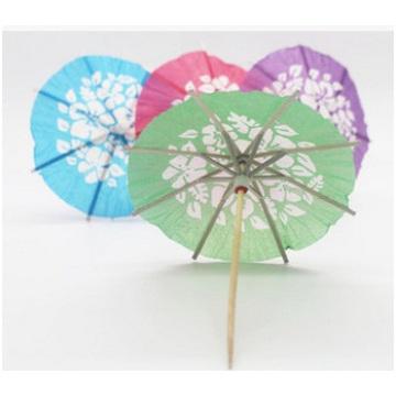Color creativo de papel paraguas frutas signo / fruta cóctel paraguas