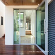 Aluminium Hinge Doors Double Glazed Glass Tempered Awning and Sliding Aluminum Frame Window