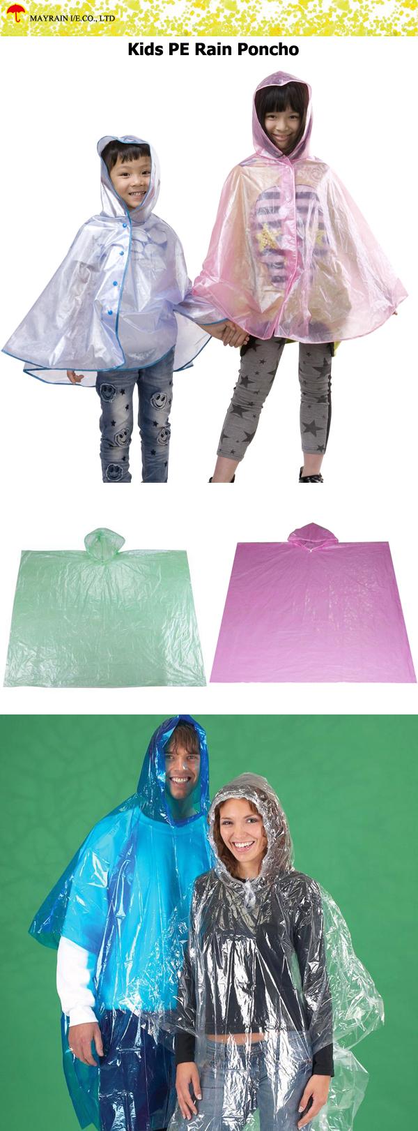 Kids PE Rain Poncho