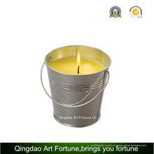 Vela de citronela cubo con asa de Metal para la decoración al aire libre