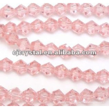pink beads,bicone beads 4mm