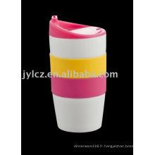 Mug 420CC avec couvercle et bande en silicone
