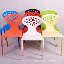 Stacking polypropylene plastic dining chair in malaysia