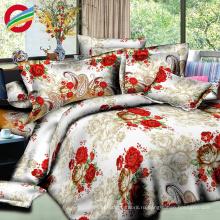 красивая современная ткань листовая печать кровать для наборов