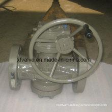 Soupape de bouchon d'extrémité à bride à usage industriel haute pression