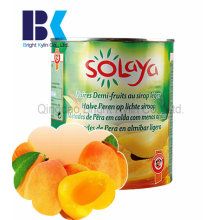 Целлюлоза консервированного желтого персика в сиропе
