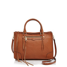 Double Handles Detachable Adjustable Crossbody Leather Bag