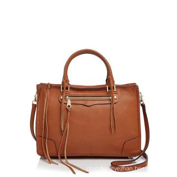 Double Handles Detachable Adjustable Crossbody Leather Bag
