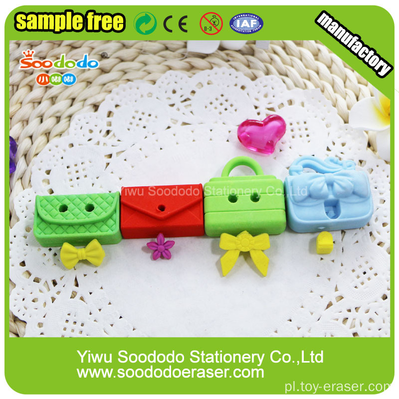 SOODODO Eco-friendly 3D Red Lady Beetles Shaped Eraser