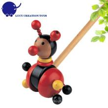 Toddlers Lovely Ladybug madeira Push Along Toy