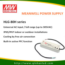 80W IP65 LED Power Supply Driver (Meanwell HLG-80H)