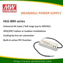 80W IP65 LED de alimentación suministro de conductor (HLG Meanwell - 80H)