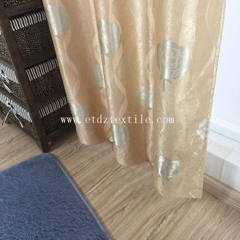 100% POLYESTER FLEECE JACQUARD BLACKOUT CURTAIN