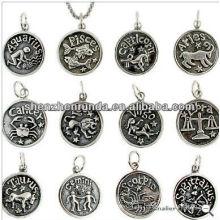 Edelstahl Anhänger Zodiac Anhänger Anhänger Halskette Herstellung