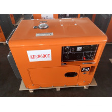 AC Single Phase 50Hz/5.5kw Key Start Silent Air-Cooled Diesel Generator for Home and Hotel Use