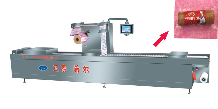 Plastic film vacuum combination packer