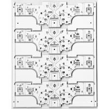 Однослойный алюминиевый базовый материал для светодиодного освещения