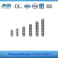 Traumatisme métallique Implant orthopédique Phalange Matacarpus Plate