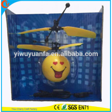 High Quality Interesting Heli Ball Heart Smile Face Infrared Ray Interaction Mini Craft Flying Ball